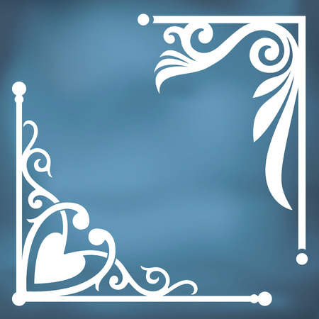 art nouveau border:  corner design. Inspired by old ornaments
