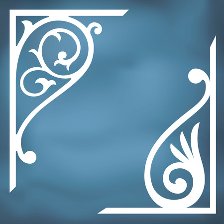 Vector corner design  Inspired by old ornaments Vector