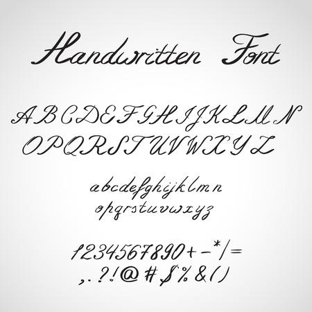 ink sketch: Scritto a mano, stile schizzo inchiostro Font Vettoriali