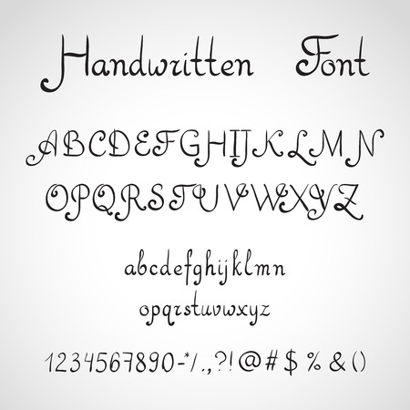 ink sketch: Carattere scritto a mano, inchiostro stile schizzo