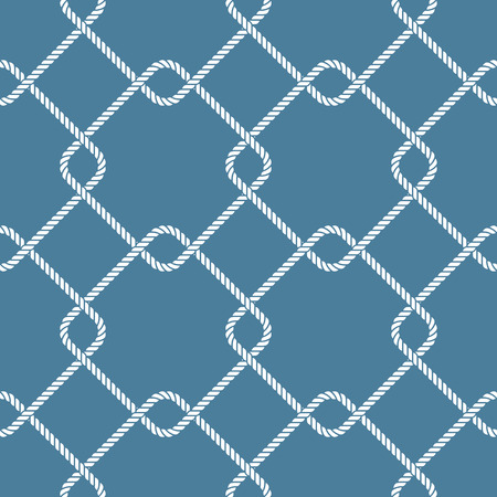scalable: Seamless nautical rope knote pattern. Easy scalable