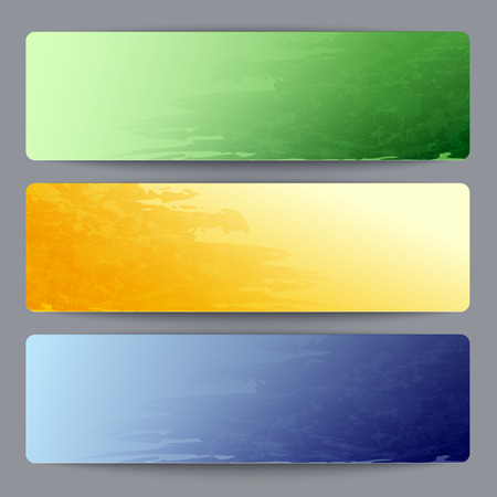 Banner templates in Brazil flag colors Illustration
