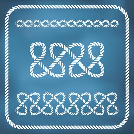 Decorative seamless nautical rope knots. Gradient mesh Vector