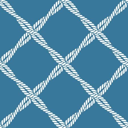 Seamless nautical rope knot pattern Ilustração