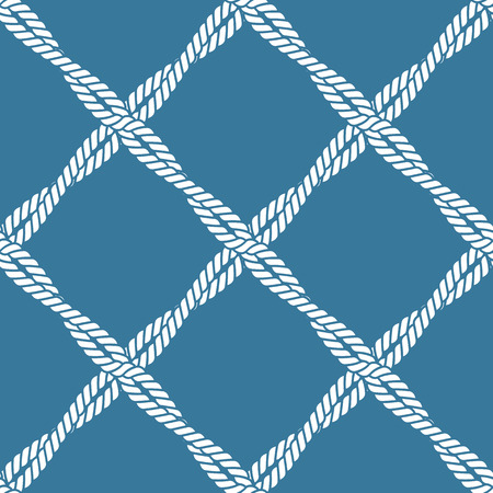Seamless nautical rope knot pattern Illustration