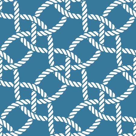 Seamless nautical rope knot pattern Stock Illustratie