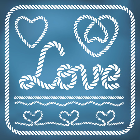 Heart shape rope knots and other love decor