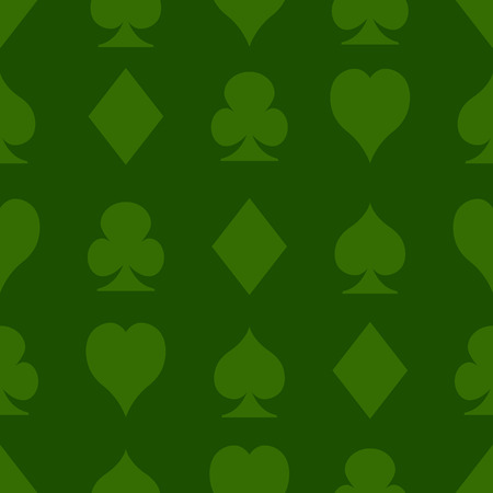 Casino seamless pattern with playing cards suits Vector