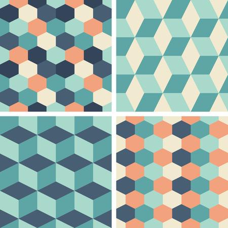 Patrones De Vectores Sin Azulejos Purpura Y Azul Para Imprimir