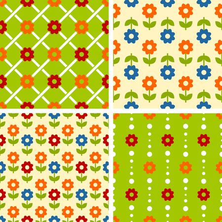 fleurs romantique: Vector carrelage sans soudure mod�les - fleurs romantiques. Pour l'impression sur tissu, scrapbooking, emballage cadeau.