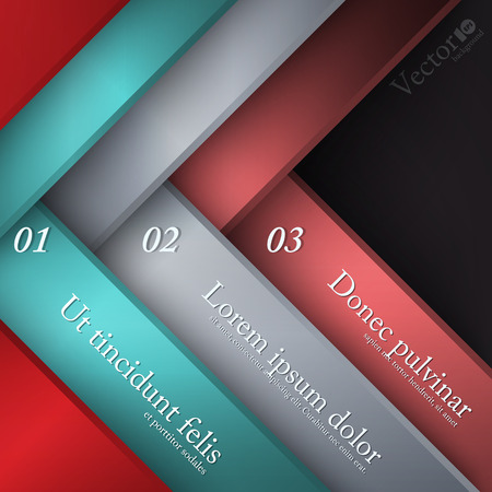 Infographics background for number options, web design, presentation, report Vector