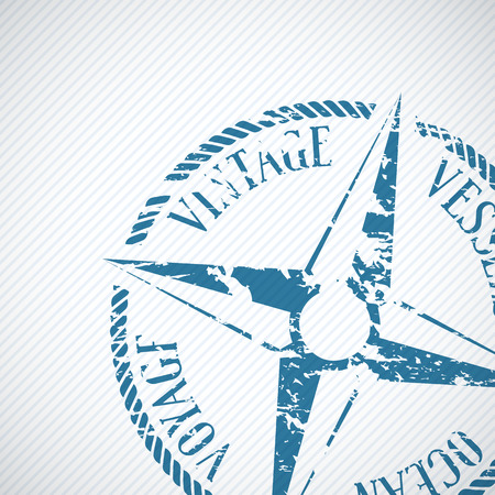 navigational: Nautical background with wind rose compass