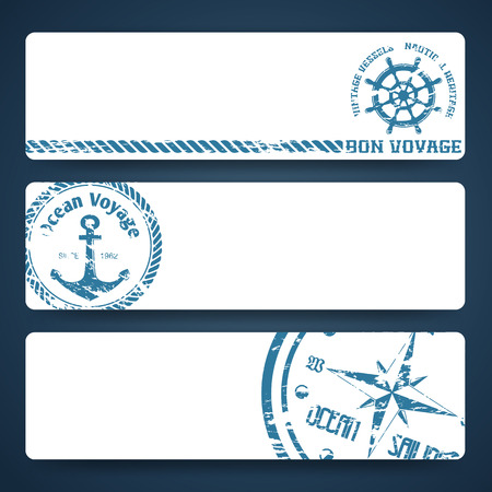 seafaring: Nautical backgrounds with wind rose compass and anchor