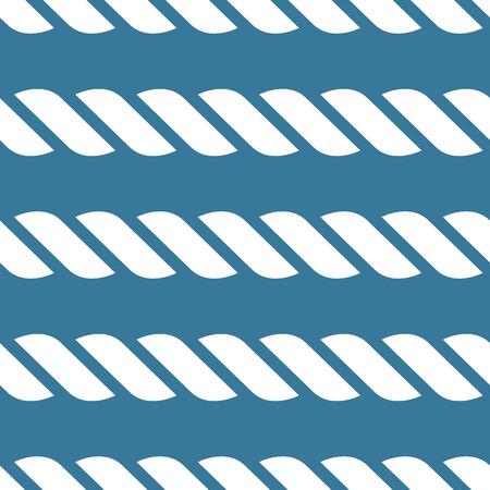 Seamless nautical rope knot pattern Illustration