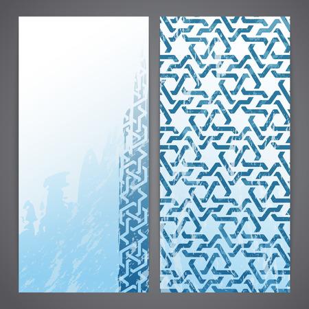 Flayers with arabesque decor - girih Vector