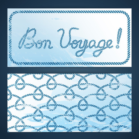 seafaring: Nautical flayers with seafaring elements - Bon Voyage