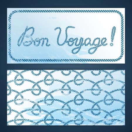 seafaring: Nautical flayers with seafaring elements - Bon Voyage