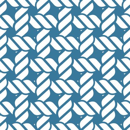 Seamless nautical rope knot pattern, fishing net Ilustração