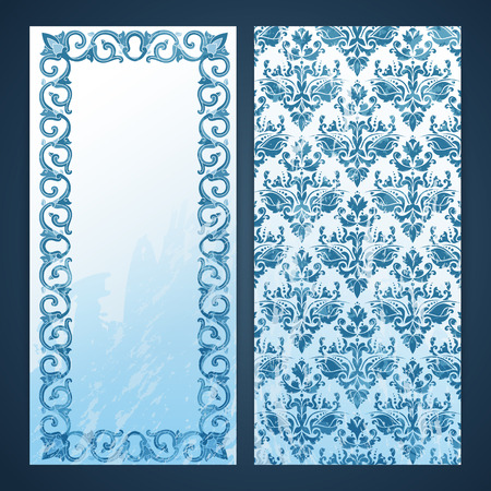 moresque: Flayers with arabesque decor - ottoman floral pattern Illustration