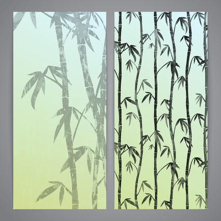 ink sketch: Flayers con steli di bamb�. Ink stile schizzo