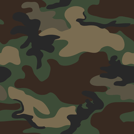 Camouflage seamless four colour woodland pattern Illustration
