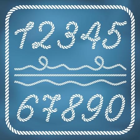 해상 밧줄에서 만든 편지 일러스트