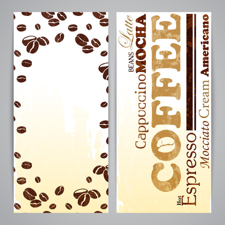 flayer: Flayer templates for menu with silhouette coffee beans