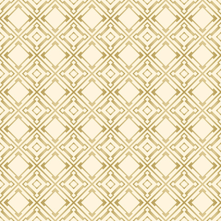 Vector seamless tiling pattern - gold geometric ornament. For printing on fabric, scrapbooking, gift wrap.