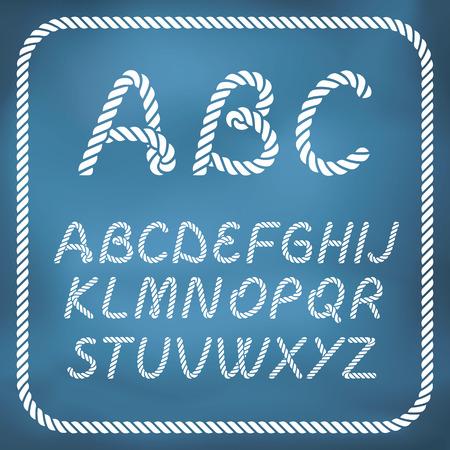 nudos: Cartas hechas de cuerda n�utica - letra escrita a mano