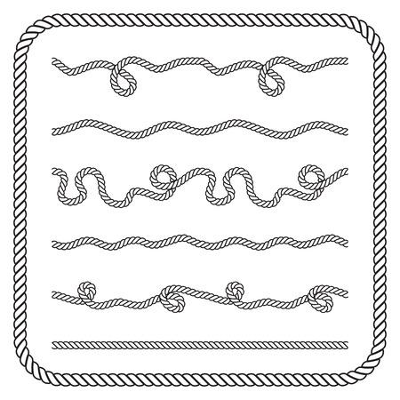 Nautical rope knots.