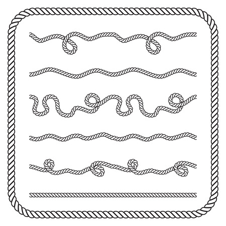 Nautical rope knots.