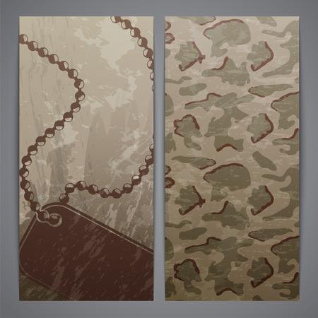 soldat silhouette: �corcheurs militaires - id tag personnelle et motif de camouflage