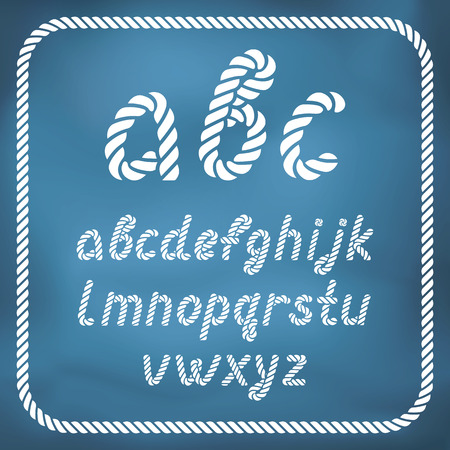 Letters made from nautical rope - hand written font. Capital letters available.