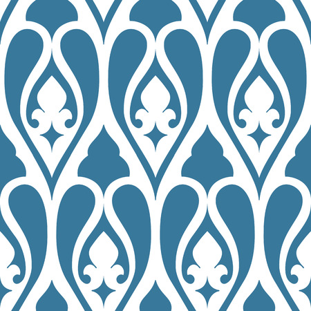 ornaments floral: Seamless floral tiling pattern. Inspired by old ornaments