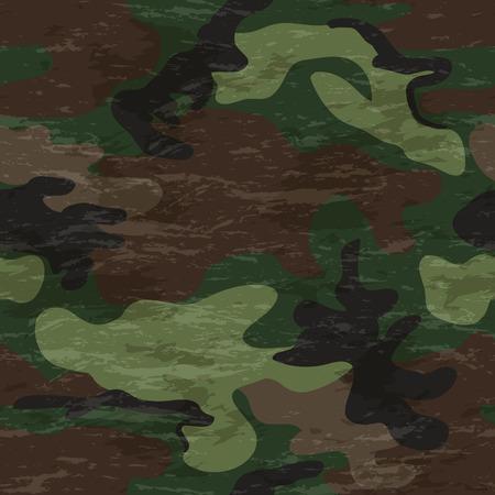 Camouflage seamless four colour woodland pattern Ilustração