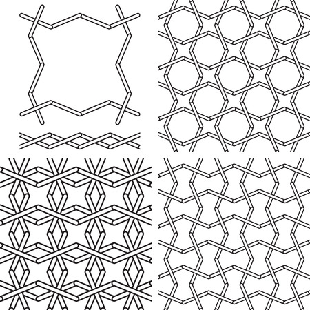 interlace: Seamless geometric girih patterns. Inspired by old ornaments