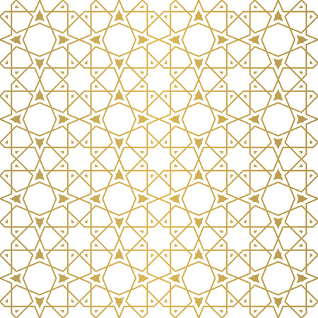 Seamless geometric girih pattern. Inspired by old ornaments