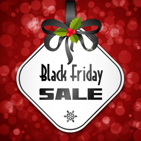 black a: Black Friday sale background with bow and holy