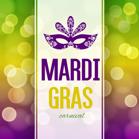Mardi Gras carnival background with masquerade mask silhouette Stock Vector - 50483611