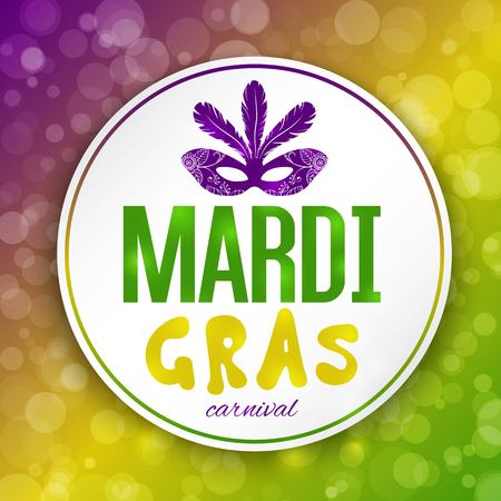 mardi gras mask: Mardi Gras carnival background with masquerade mask silhouette