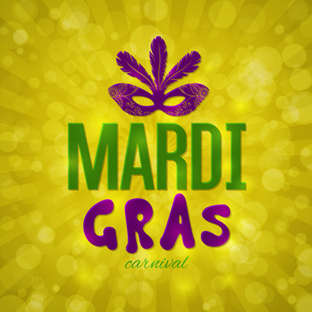 harlequin clown in disguise: Mardi Gras carnival background with masquerade mask silhouette