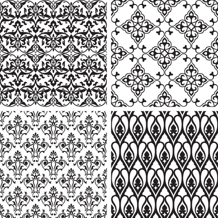 inspired: seamless patterns inspired by antique ornaments.