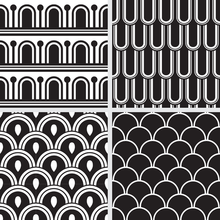 antiquities: Set of seamless backgrounds inspired by antique greek ornaments.