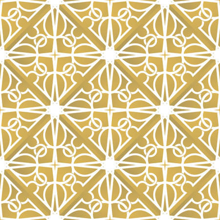 inspired: Seamless interlacing pattern. Inspired by old ornaments Illustration