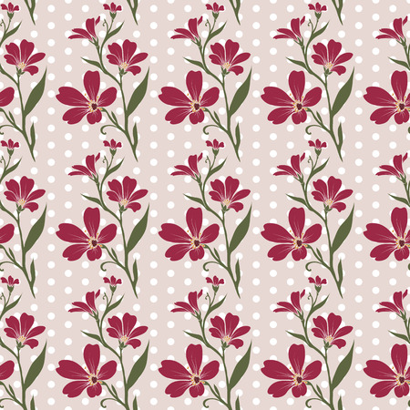 cerastium tomentosum: seamless tiling pattern - romantic flowers. For printing on fabric, scrap booking, gift wrap.