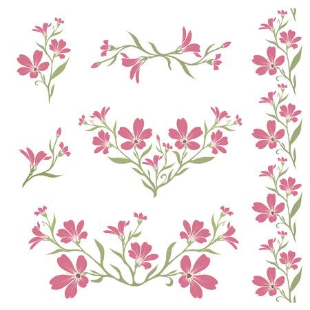 chickweed: Chickweed (Tomentosum cerastium) graphic flower silhouettes