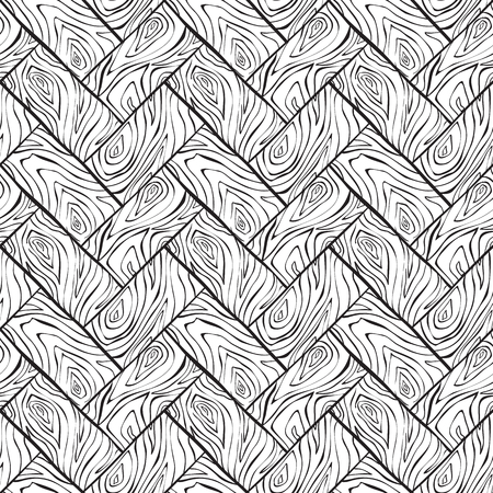 ink drawing: Vector wood texture seamless background, ink drawing imitation