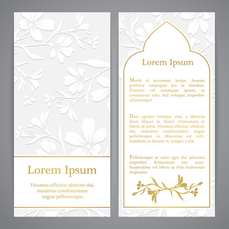 Background with chickweed (tomentosum) graphic flowers. Embossed paper imitation Stock Illustratie