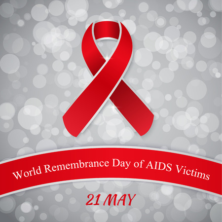 alert ribbon: Background for World Remembrance Day of AIDS Victims