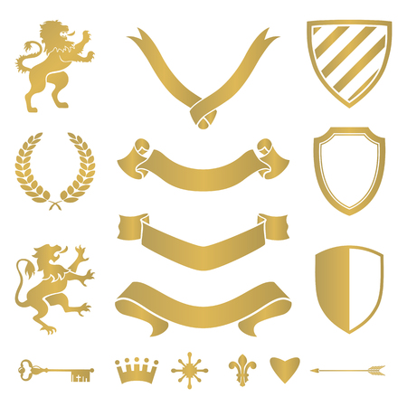 signs and symbols: Heraldic silhouettes for signs and symbols (safety, security, military, medieval). Based on and inspired by old heraldry.